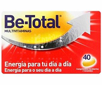 Be-Total Complemento alimenticio multivitamínico con vitamina B6, B12 y ácido fólico, 40 Comprimidos