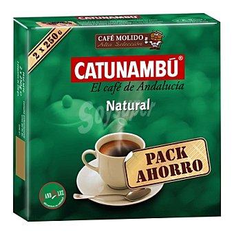 Catunambu Café molido natural Pack de 2x250 g