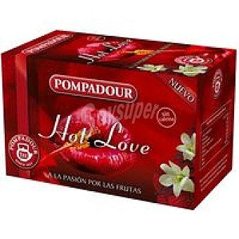 Pompadour Infusión Hot Love Caja 20 sobres