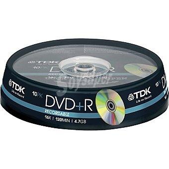 TDK Tarrina de 10 Dvd+r grabables de 4,7 GB 16x 120 mit