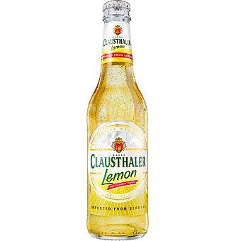 CLAUSTHALER Lemon Cerveza alemana sin alcohol con sabor a limón Botella 33 cl