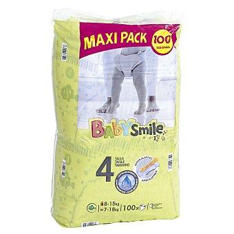 BABYSMILE DIA pañales 8-15 kgs talla 4 paquete 100 uds