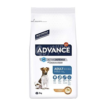 Advance mini Pienso para perros mini adultos Advance Mini Pollo y Arroz 3 Kg