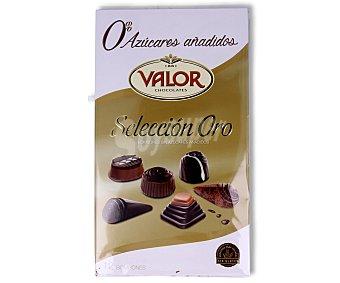 Valor Bombones de chocolate con stevia sin azúcares añadidos Caja de 120 g