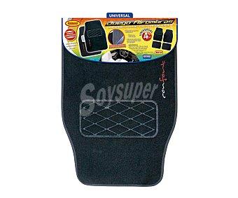 ROLMOVIL Juego de 4 alfombrillas universales de moqueta de alta calidad de color negro, modelo confort 1 unidad
