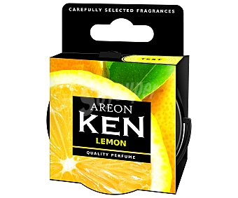 AREON Ambientador en gel para coche, en envase de lata con dosificador y con olor a limón, serie Ken 1 unidad
