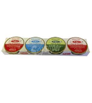 Barrero Mixto de atún y sardinas Pack de 4x22 g