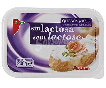 Auchan Queso de untar sin lactosa 200 gramos