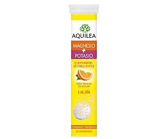 AQUILEA Complemento alimenticio de magnesio y potasio con sabor a naranja 14 comprimidos