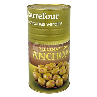 Carrefour Aceitunas verdes rellenas de anchoa 600 g