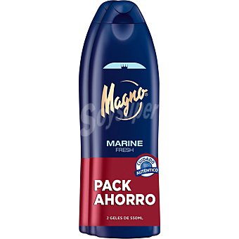 Magno Gel de baño marine Pack 2 botella 550 ml