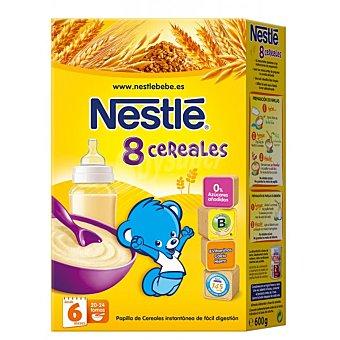 Nestlé Papillas Papilla instantánea 8 cereales con bifidus desde 6 meses Envase 600 g
