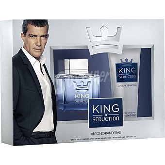 ANTONIO BANDERAS King of Seduction eau de toilette natural masculina + after shave tubo 100 ml spray 100 ml