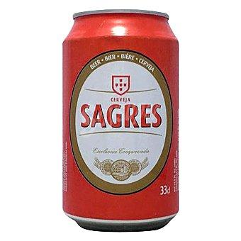 Sagres Cerveza rubia portuguesa Botella 33 cl