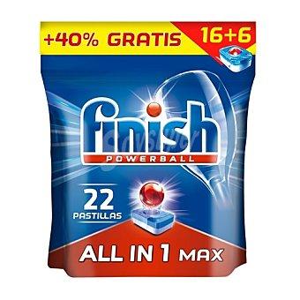 Finish Finish lavavajilla todo en 1 15+5 uds