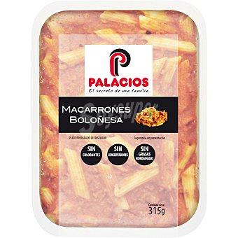 Palacios Macarrones boloñesa Envase 315 g