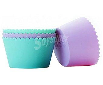 Ibili Moldes de silicona de colores para cupcakes, ibili Pack de 4