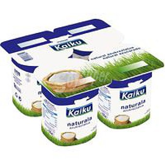 Kaiku Yogur natural azucarado pack 4x125 g