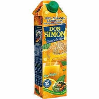 Don Simón Zumo de naranja exprimida con pulpa Brik de 1 l