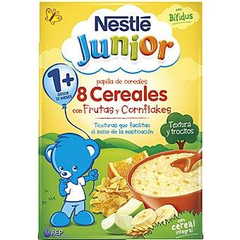 Junior Nestlé Papilla de 8 cereales con frutas y cornflakes Envase 350 g