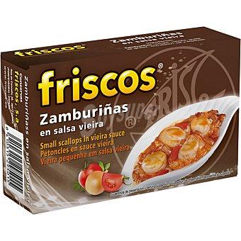 Friscos Zamburiñas en salsa vieira lata 65 g neto escurrido lata 65 g neto escurrido