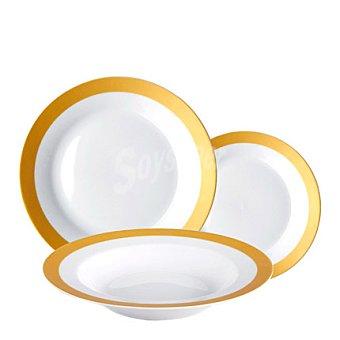 Vajilla 18 piezas porcelana infinite 1 ud