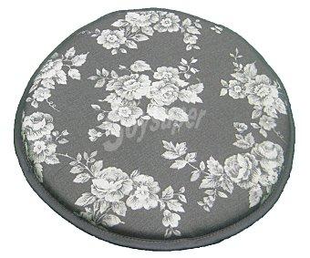 AUCHAN Cojín estampado para taburete, modelo Panama, color gris 30x30 centímetros 1 Unidad