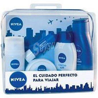 Nivea Set de viaje mujer (crema manos + gel + body milk + desodorante + bálsamo labial) 1 ud