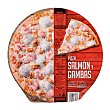 Pizza congelada salmon gamba 390 g Hacendado