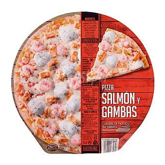 Hacendado Pizza congelada salmon gamba 390 g