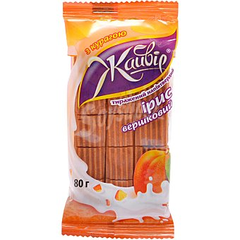 JAYVIR Caramelos toffee de crema con orejones Envase 80 g
