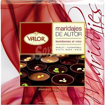 VALOR Maridajes de Autor Bombones al vino Estuche 160 g