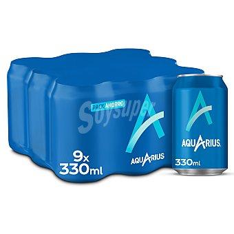 Aquarius Bebida isotónica de limón Lata de 33 centilitros pack de 9
