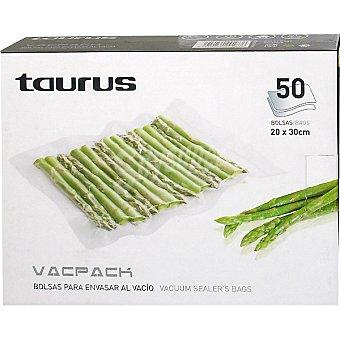 Taurus Bolsas para envasar al vacio 20 x 30 cm caja de 50 unidades Caja de 50 unidades