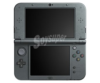 Nintendo Nueva consola Nintendo 3Ds XL, color negro metálico. Incluye mejoras como Nfc para conectar Amiibo 1 unidad