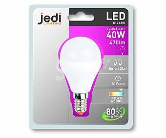 JEDI Bombilla led esférica, casquillo E14 (fino), 6,5 Wattios, luz fría 1 Unidad
