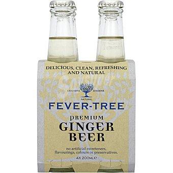 Fever Tree Tónica premium Ginger Beer pack 4 botellas 200 ml pack 4 botellas 200 ml