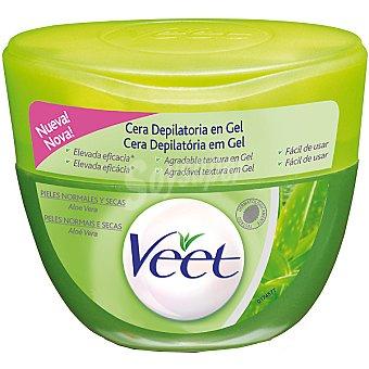 Veet Cera depilatoria en gel con aloe vera para piel normal y seca Tarro 250 ml