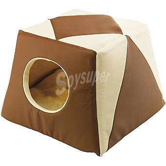 FERPLAST modelo Excelsio caseta para gato color marrón medidas 44x44x33 cm  1 unidad