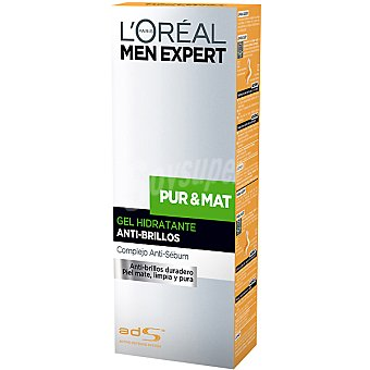 L'Oréal MEN EXPERT Pur & Mat gel hidratante anti-brillos Tubo 50 ml