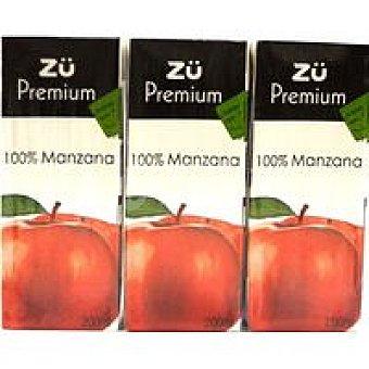 Zü Zumo de manzana 100% Pack 3x20cl