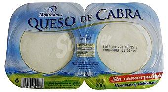 Montesinos Queso cabra rulo (2 porciones) Bandeja de 200 g