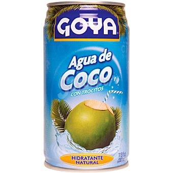 GOYA Agua de coco con trocitos  lata 33 cl