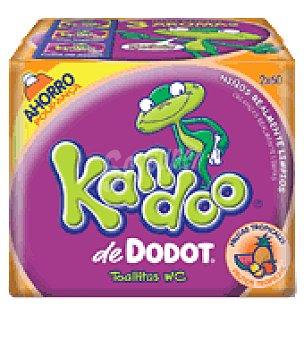 Kandoo Dodot Toallitas WC para niños de +3 años Frutas Tropicales Dodot Pack de 2