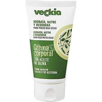 Veckia Crema corporal con aceite de oliva para piel muy seca tubo 75 ml hidrata nutre y regenera Tubo 75 ml
