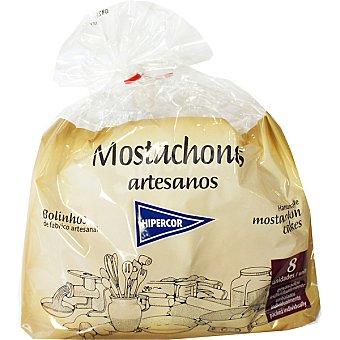 Hipercor Mostachones artesanos envasados individualmente 8 unidades bolsa 280 g 8 unidades