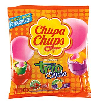 Chupa Chups Trío chicle bolsa 150 gr Bolsa 150 gr