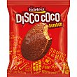 Disco coco bombón bizcocho recubierto de chocolate Envase 100 g Eidetesa