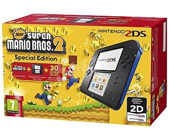 Nintendo Cónsola Nintendo 2DS en Color negro/azul + Juego Super Mario Bros 2 pre instalado 1 Unidad