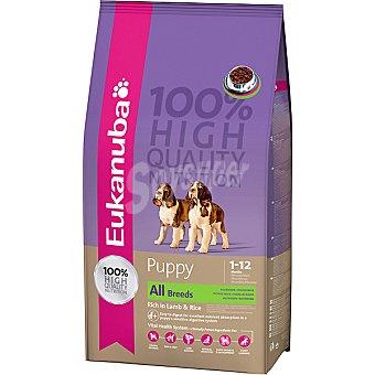 EUKANUBA PUPPY alimento completo y equilibrado para cachorros de todas las razas con cordero y arroz  bolsa 12 kg